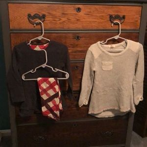 SET Burt's Bees Baby Thermal Outfit Size 3T